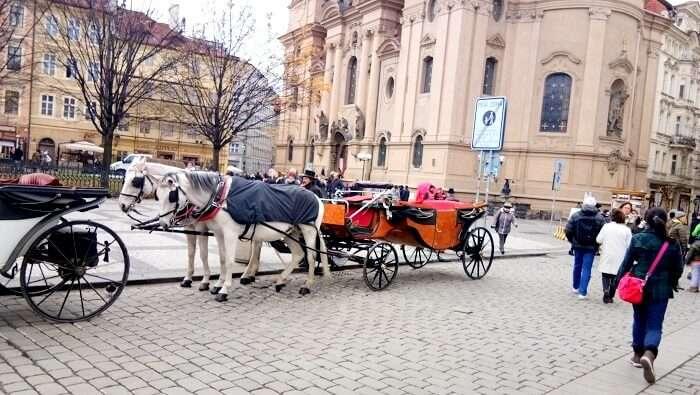 horse carriage in Prague
