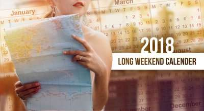 Long Weekend Calendar 2018 cover