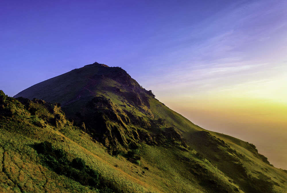 a mountain top
