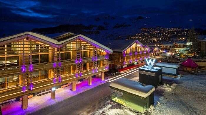 W Verbier hotel in Switzerland