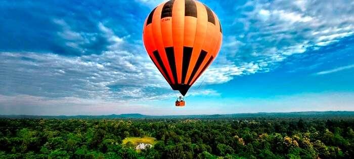 hot air balloon ride in goa india