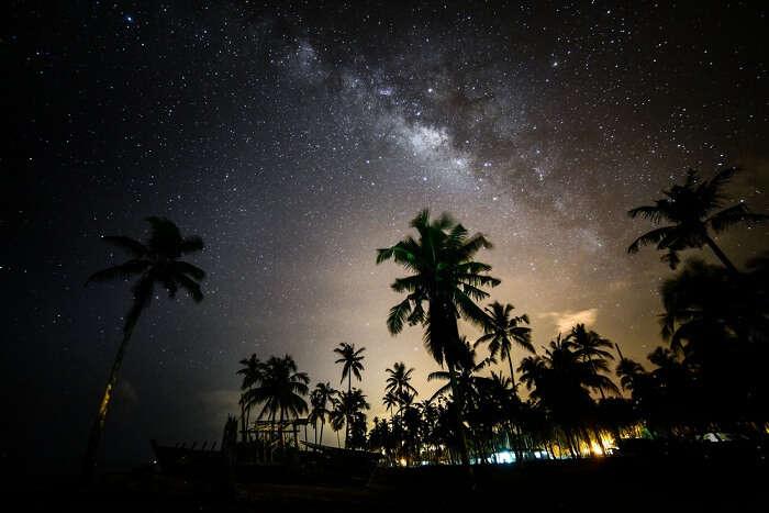 star gazing on beach in goa