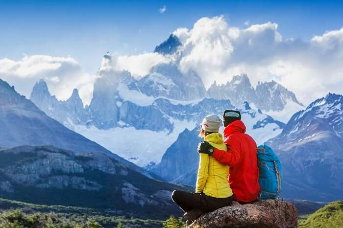 Couple in Patagonia, South America