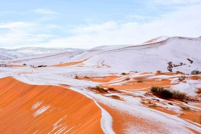 sahara desert snowfall