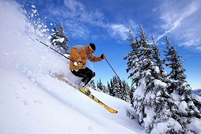 Winter sports in shimla