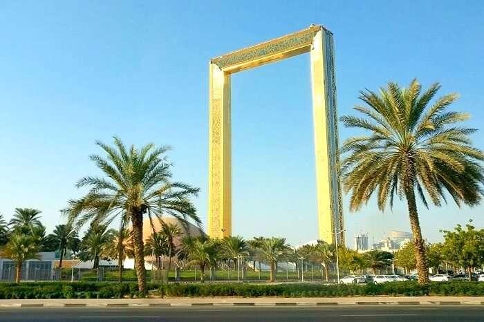 Side view of Dubai Frame
