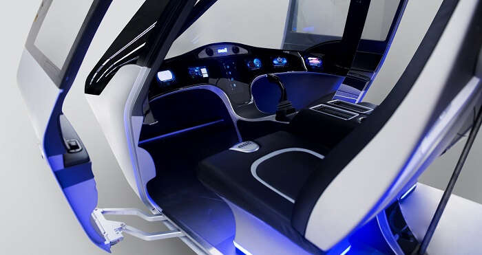 front cabin of uber air taxi