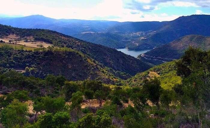 ollolai location - greenery and mountains