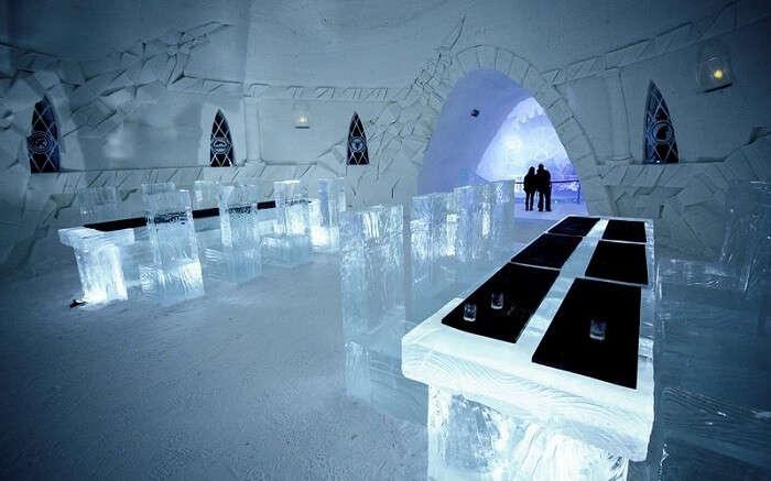 restaurant in game of thrones ice hotel