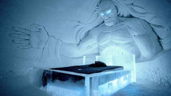 accommodation ice hotel finland