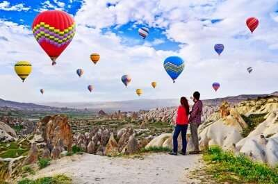 Hot-Air Balloon In Cappadocia