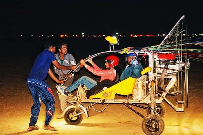 Paramotoring at Rann of Kutch