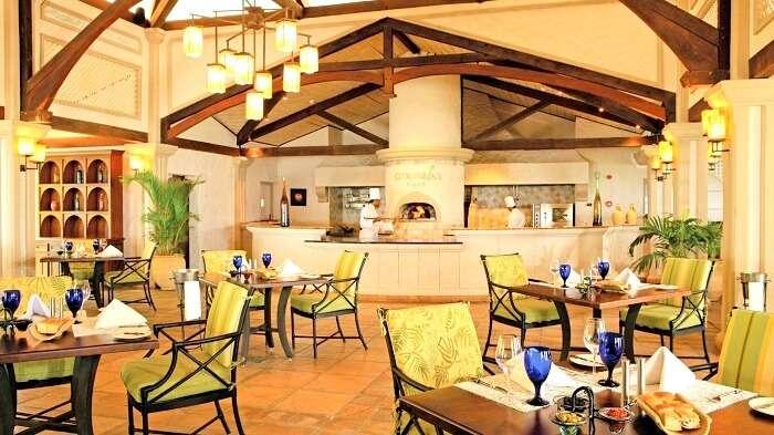 sitting of Citronella's Restaurant Mauritius