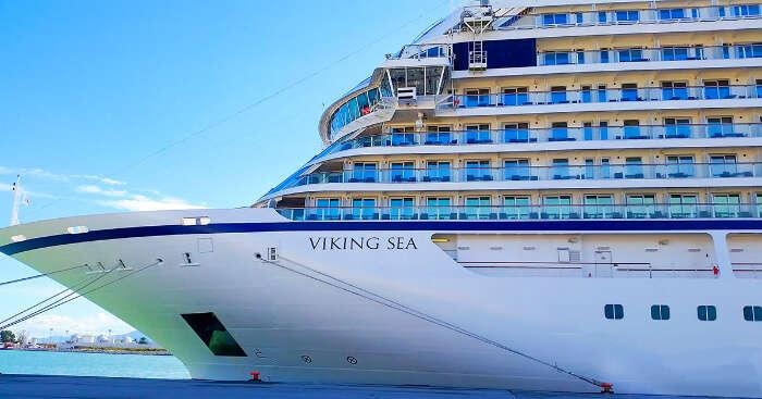 Viking cruise in ocean