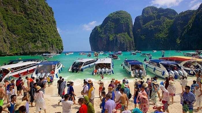 Maya Bay Tourists