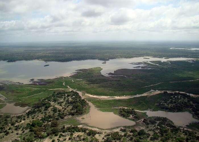 stream at Selous Game Reserve tanzania