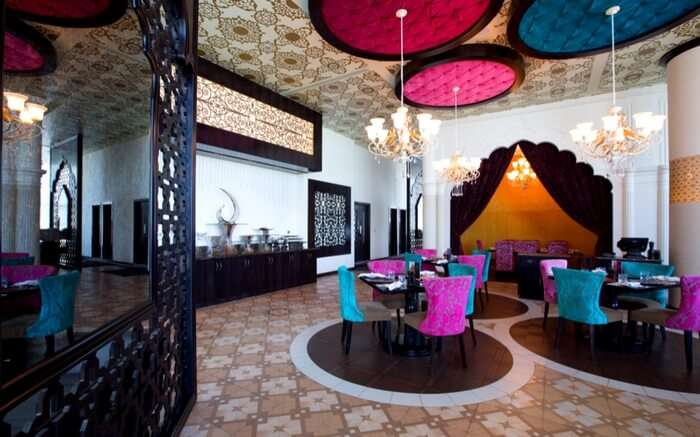 The beautiful inteeriors of Peppermill restaurant in Abu Dhabi