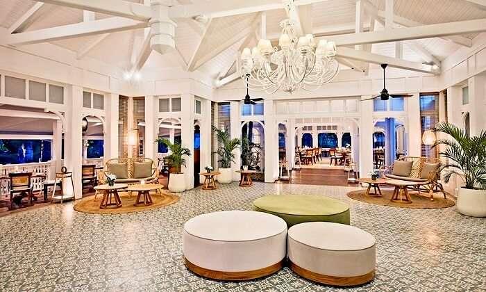 Sitting of anabella restaurant mauritius