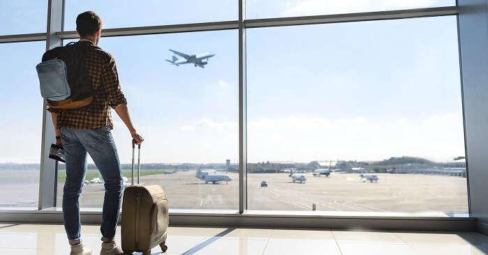 Indian man traveling