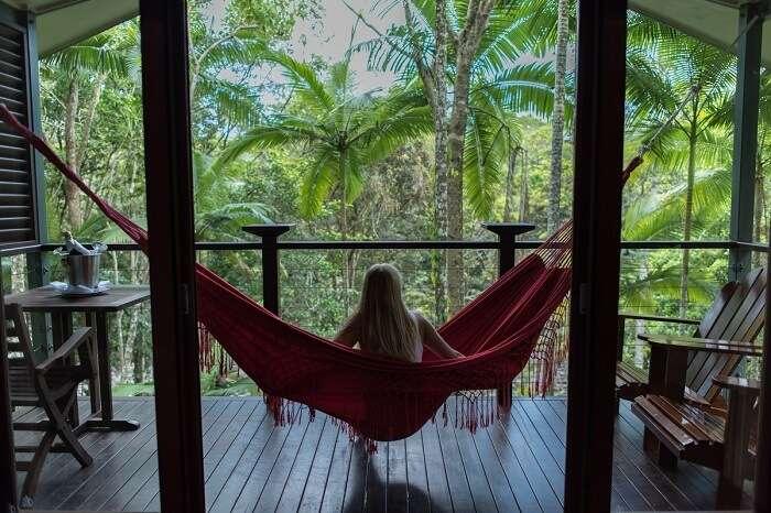 room in Silky Oaks Lodge australia