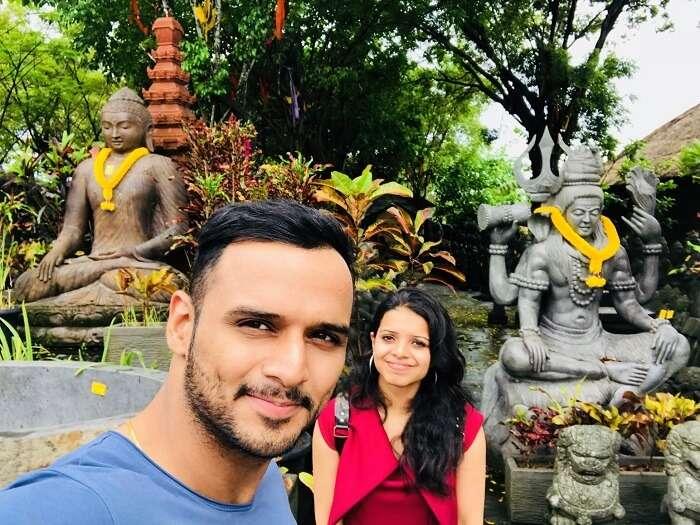 Couple exploring Bali