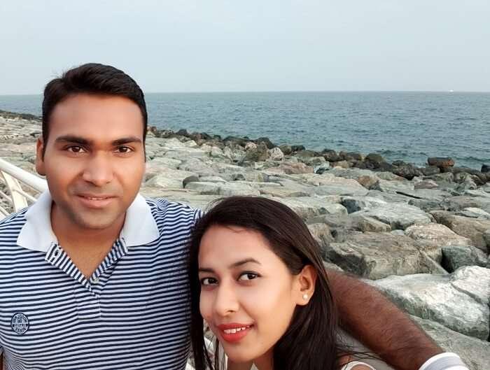 Couple enjoys Dubai City Tour