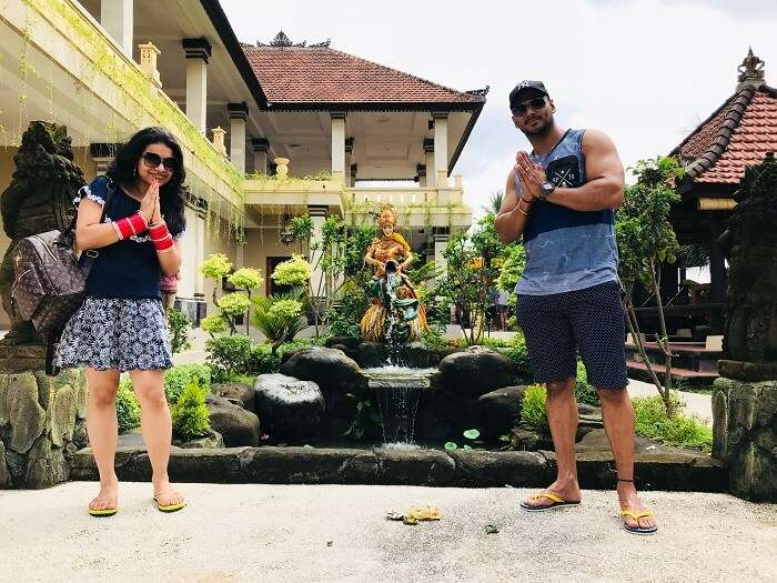 Couple at a resort in Bali