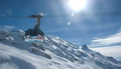 Cable Car In Mt. Titlis