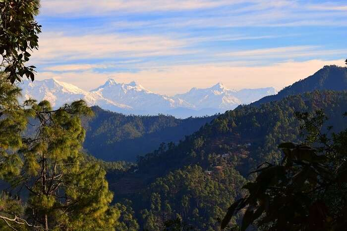 Binsar Wildlife Sanctuary views of himalayas