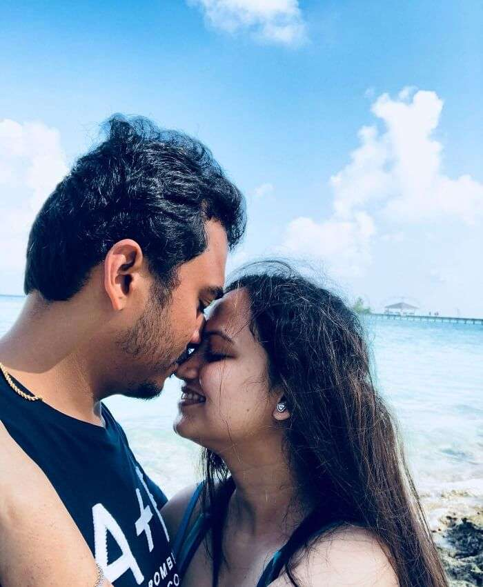 nihal and his wife at sun island resort