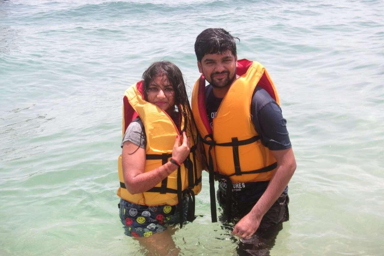 tushar honeymoon trip to Bali: watersports in bali