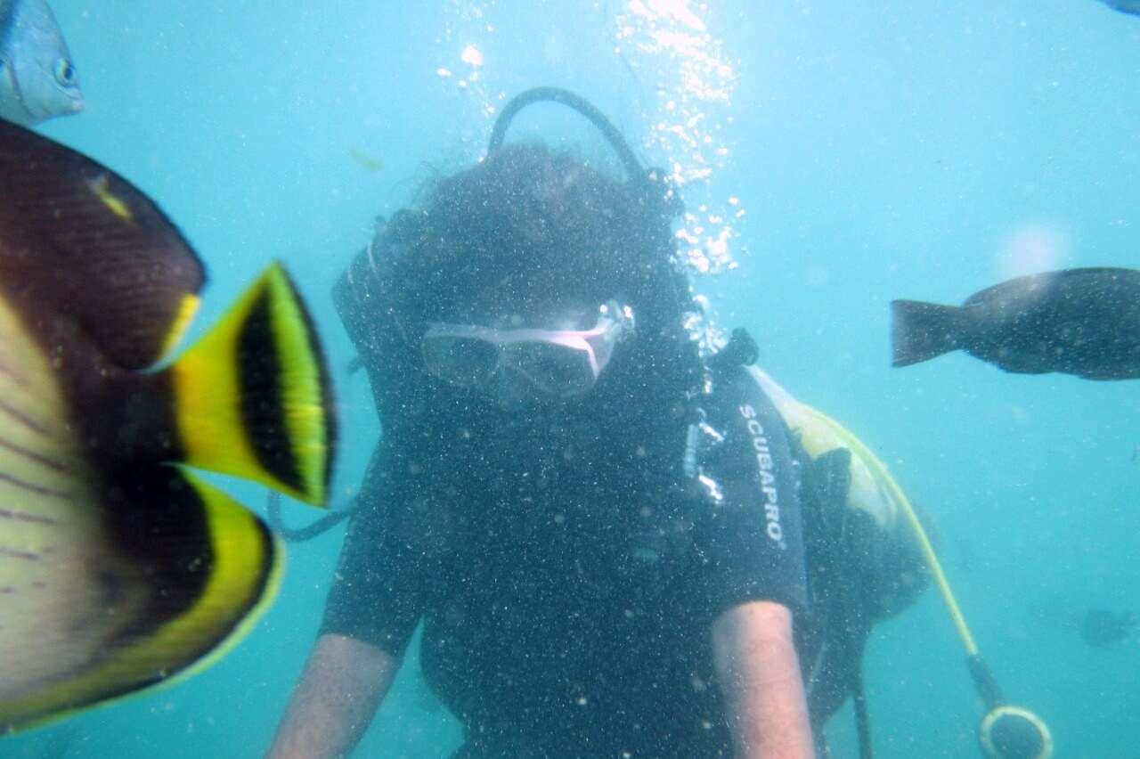 tushar honeymoon trip to Bali: tushar scuba dive
