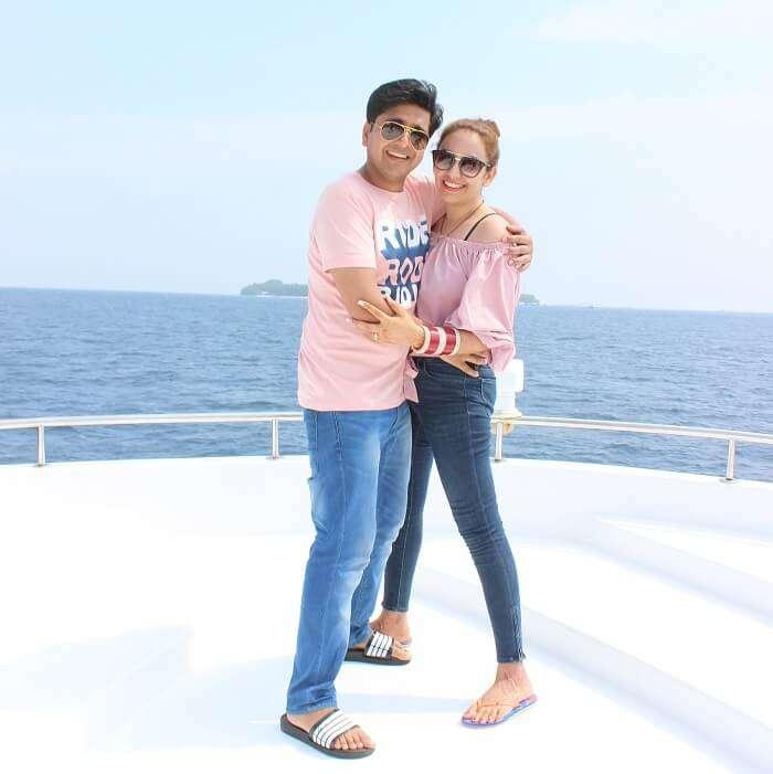 ankit wadhwa maldives honeymoon: priya ankit yacth