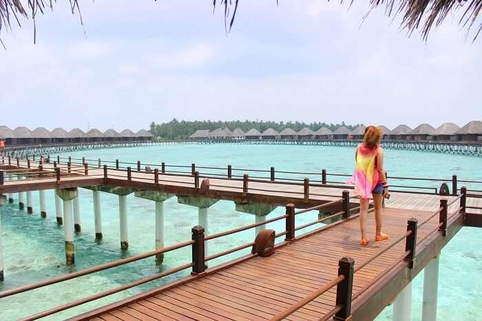 ankit wadhwa maldives honeymoon: towards overwater villa