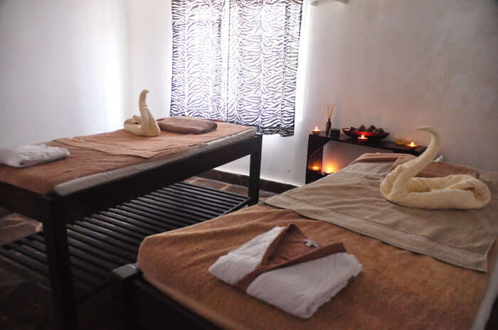 Pamper with couple spa