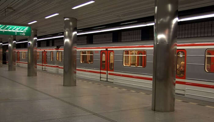 Ride the Prague Metro to reach popular hotspots in the Old Town