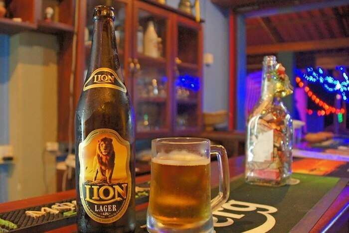 Try Lion Lager - sri Lanka's Local Brew