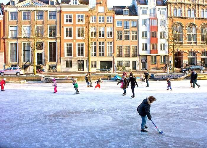 Amsterdam Canals Frozen