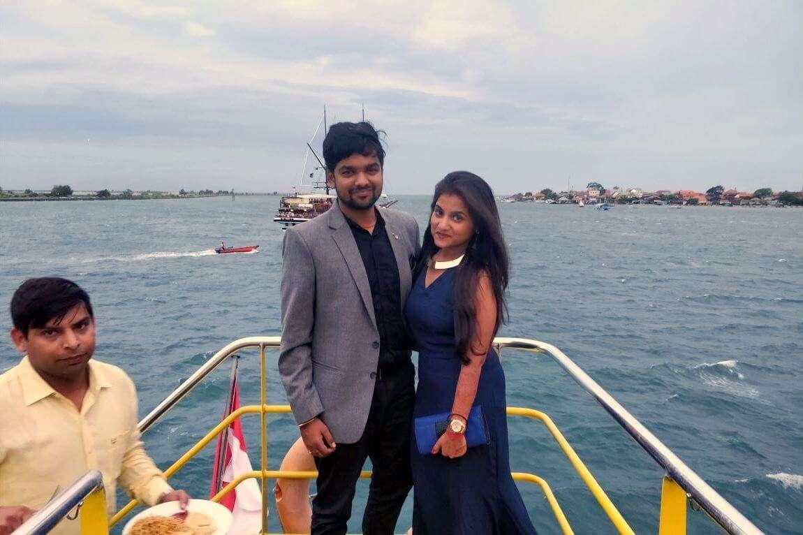 tushar honeymoon trip to Bali: bounty cruise