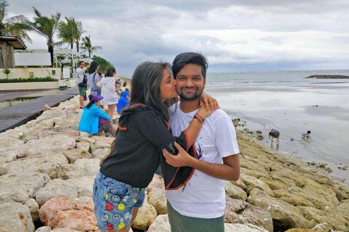 tushar honeymoon trip to Bali: tushar's leisure day