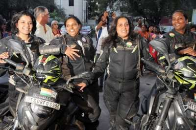 first female group hits the India-Myanmar-Thailand highway