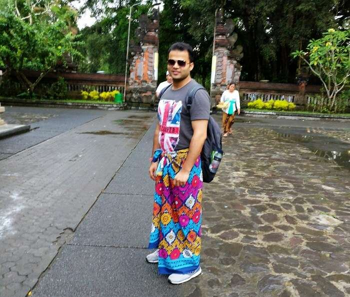 Male traveler in Bali