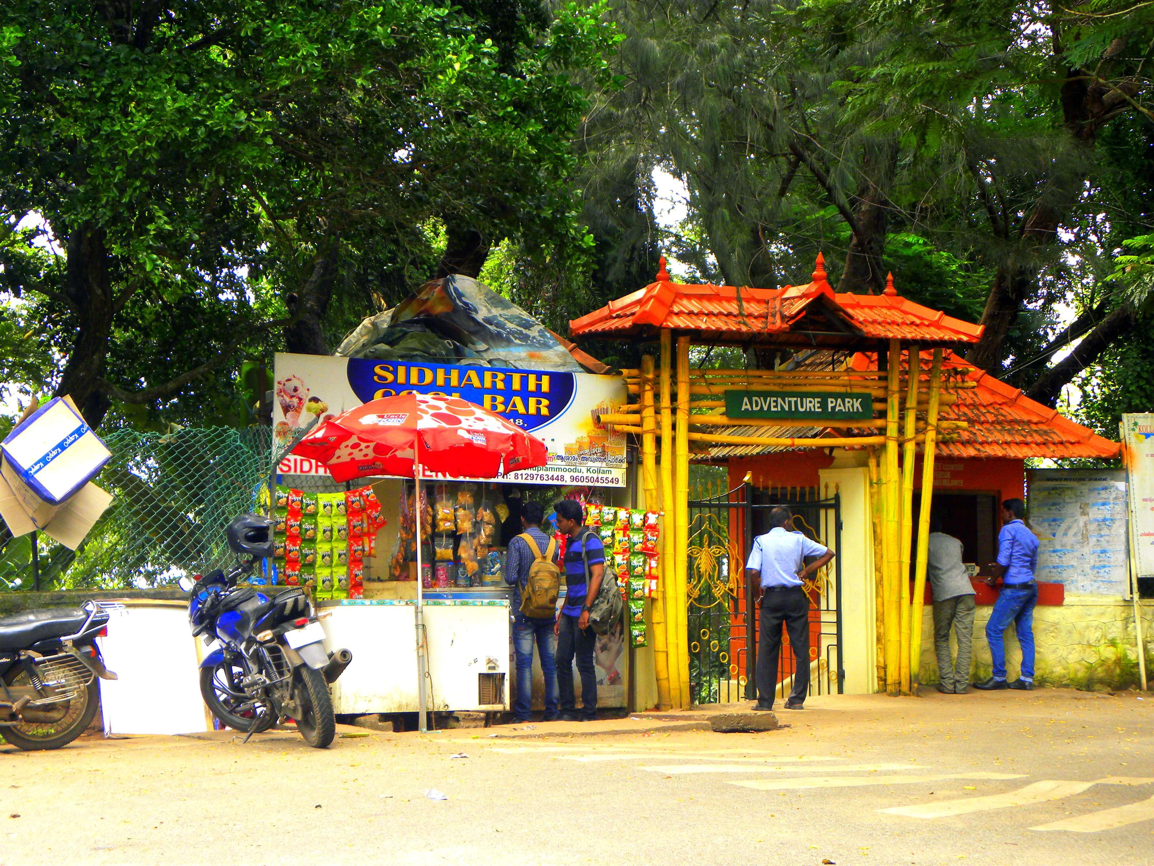entrance of Asramam adventure park in Kollam