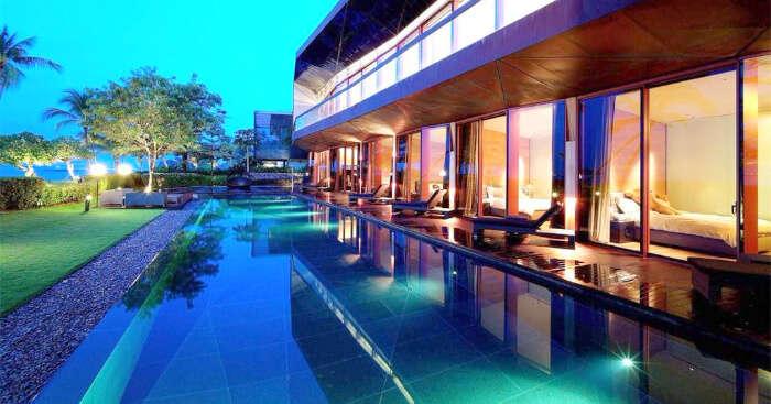 a luxurious villa in Singapore