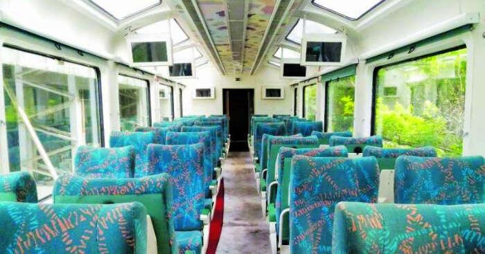glass roof train