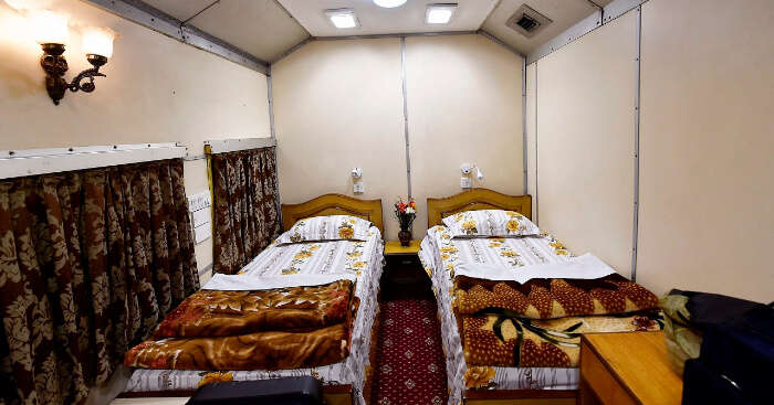 a luxurious railways coach