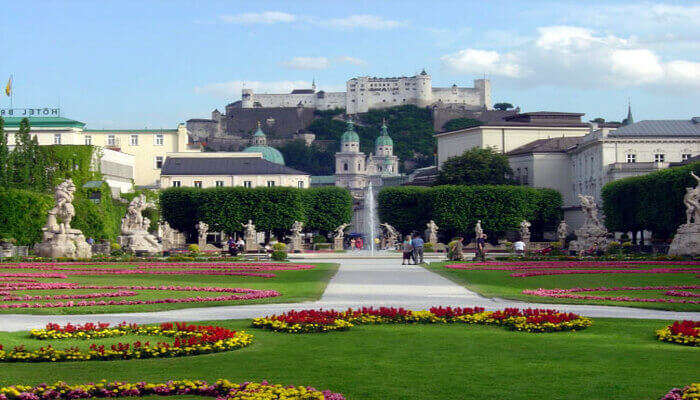 Go for a stroll in the Mirabell Gardens