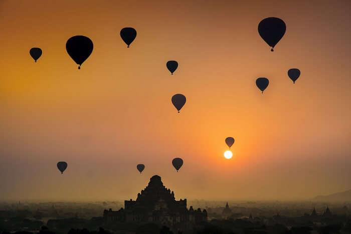 Hot air balloon ride In Siem Reap