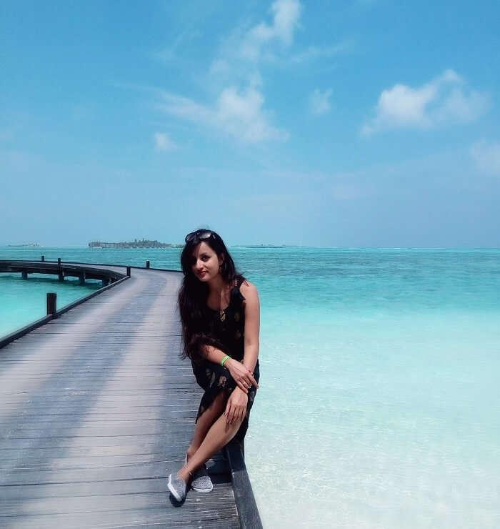 deepti at the adaaran resort