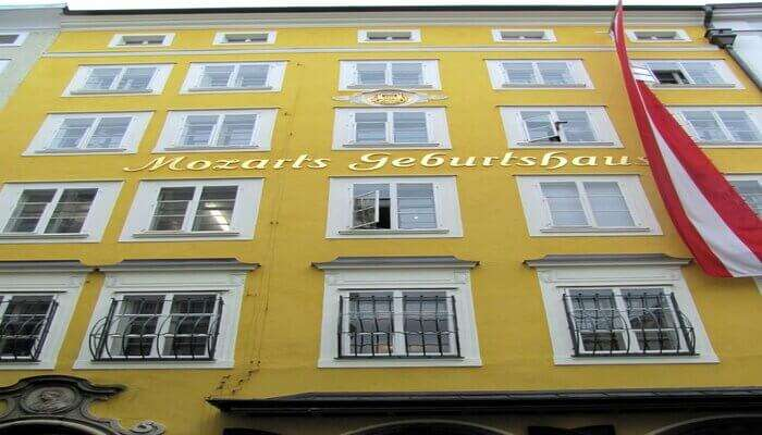 Tour the famous residence of Mozart